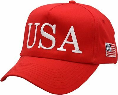 finest selection a7d4c bd0d6 USA Trump Hat 45th President Make America Great Again Snapback Red