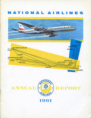National Airlines 1961 Annual Report, new southern transcontinental route