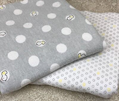 Carters Just One You Baby Love Patch Duck Blanket Yellow Grey Polka Dots