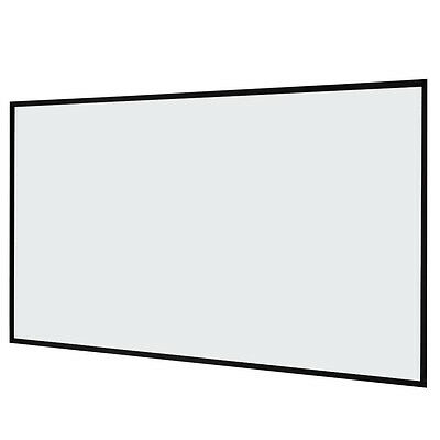 """Clear 87"""" x 49""""Collapsible Film Movie Projection Projector Screen Matte Portable"""