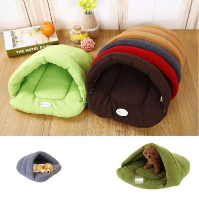Cushion Pet Cat Dog Nest Bed Soft Warm Cave House Sleeping Bag Mat Pad Soft&Warm