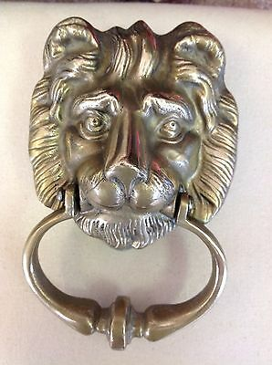 Vintage Solid Brass Lion Door Knocker. VERY NICE!