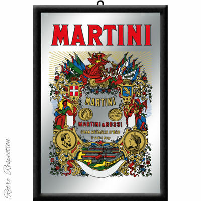 Martini Bar Mirror - Framed - 20 x 30 cm in box