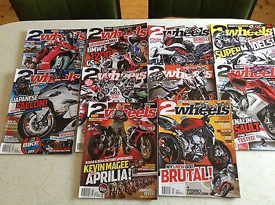 10 2 WHEELS MOTORBIKE MAGAZINES Bulk Lot!