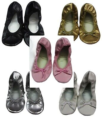 JIFFIES GIRLS Ballet Dance Flats Black Gold Pink Silver White Shoes *CLEARANCE*