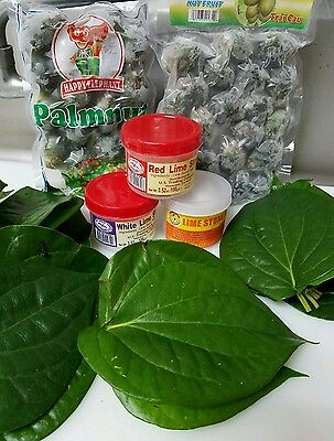 Full Package Chew X-Large  (Limestone Paste, Young Betelnut, 40pcs Trau Leaves)
