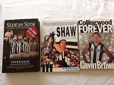 3 COLLINGWOOD FOOTBALL CLUB BOOKS Bulk Lot!