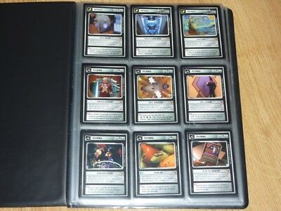 Star Trek CCG Rules of Acquisition Full Set 130 Cards in Folder BB - NM-MT to MT