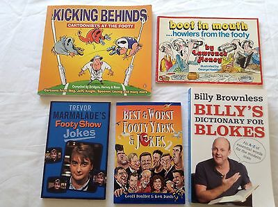 5 AFL FOOTBALL JOKE BOOKS Bulk Lot!