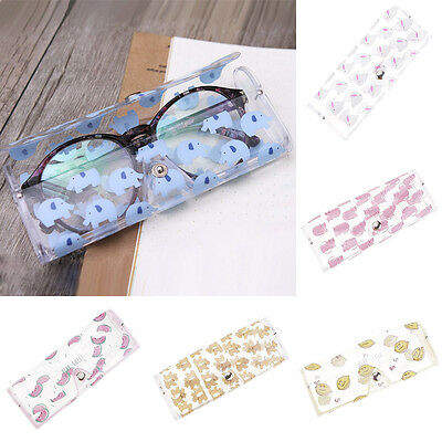 Cartoon Pattern Clear Soft Sunglasses Case Glasses Eyewear Protective Box Pouch