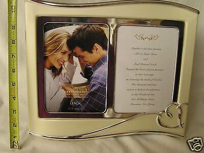 Lenox Forevermore  Invitation 5 x 7 Double Frame Silverplate NEW