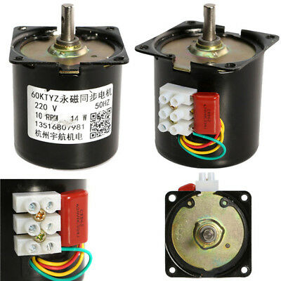 AC 220V 10RPM Electric Synchronous Gear Motor