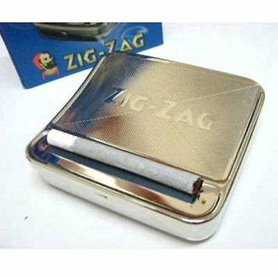 70mm Automatic Cigarette Tobacco Roller Rolling Machine Box Metal ZIG ZAG case s