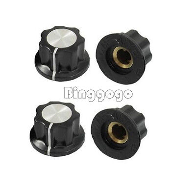 10 Stks 16mm Top Rotary Control Turning Knob Hole 6mm Dia Shaft Potentiome​ter