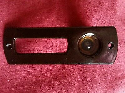 Vintage Excellent condition Brown Bakelite Peephole Door With stand 1930's
