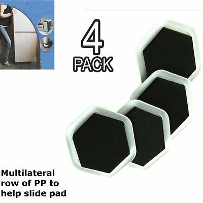 4X Furniture Sliders Mover Pad Floor Protectors for Moving Wood Carpet Tile
