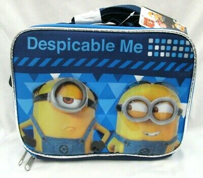 """Disney Despicable Me 3 Minion Minions 9.5"""" Insulated Lunchbox Lunch Bag-New"""