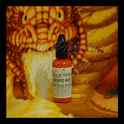 Encre De Tatouage Tattoo DHARP© : BRIGHT RED - 35 ML ROUGE Qualité Extra Premium