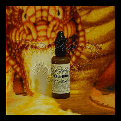 Encre De Tatouage Tattoo DHARP© : CHOCOLATE BROWN - 35 ML Qualité Extra Premium