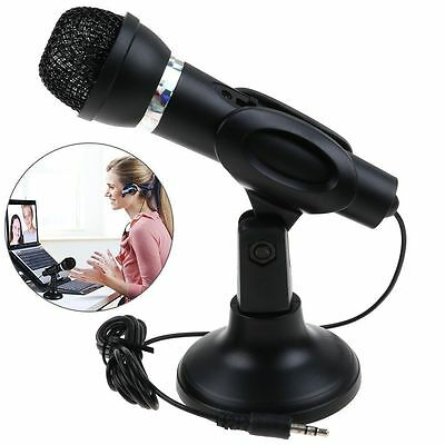 3.5mm Mini Computer Microphone Mic for Laptop Notebook PC Podcast Skype MSN Chat