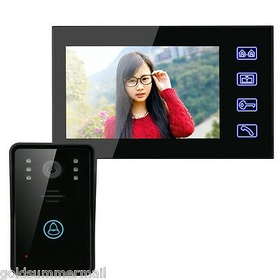 7 Inches HD Video Door Phone Intercom Doorbell Touch Button Remote AU Plug