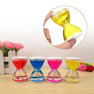 Mini Visual Desktop Toy Sandglass Clock Floating Liquid Oil Timer Dropper Motion