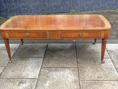 Regency Style  Coffee Table Two Drawer Tibbenhams Of Norfolk Delivery Available