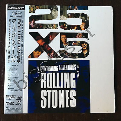 The continuing adventures of THE ROLLING STONES Double Laserdisc JAPAN OBI GF/IN
