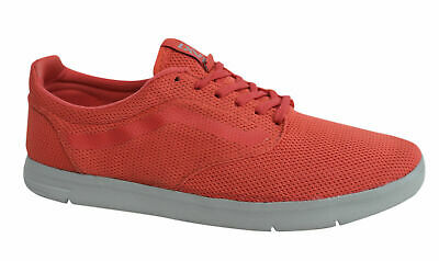 6711133ff8 Vans Off The Wall Iso Textile Trainers Lace Up Coral Red Shoes VHHZU0 Vans E