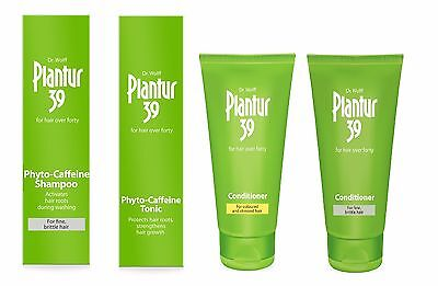 Plantur 39 Hair Shampoo Conditioner Fine Coloured Stressed Hair Caffeine Shampoo