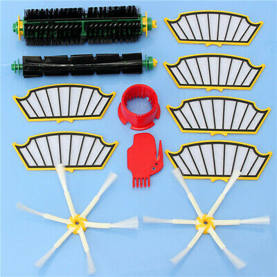 12pcs Vacuum Cleaner Accessories Filters and Brushes Kit for iRobot Roomba 500 S