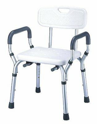 Essential Medical Supply Shower Bench with Arms and Back Bath Seats Mobility