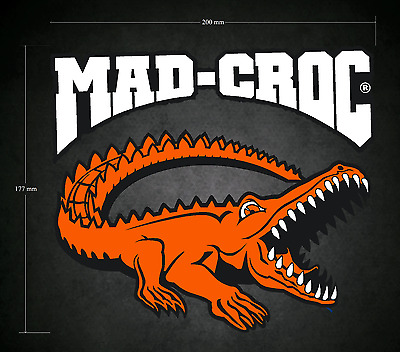 200mm x 177mm MAD-CROC Style Sticker/Decal - Karting - Go-Kart