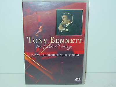 """*DVD-TONY BENNETT""""IN FALL SWING-LIVE AT THE JUBILEE AUDITORIUM""""-2004 Waterfall*"""