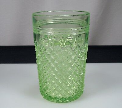 Anchor Hocking Green Miss America Depression Glass Tumbler