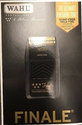 WAHL 5-Star FINALE Shaver Cord/Cordless Bump Free 120V-240V - FREE Priority Ship