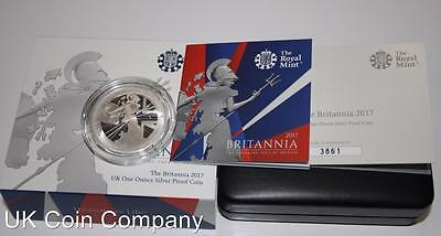 2017 Britannia 1oz Silver proof £2 Two Pounds Coin From The Royal Mint