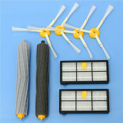 8pcs Vacuum Cleaner Accessories Kit Filters and Brushes for iRobot Roomba 800 90