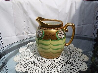 Antique T&v Pickard Limoges Pitcher  Artist Signed  5 1/2 Inches...pristine