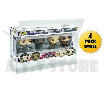 Vinyl Box Case / Protector for 4  PACK (SMALL) FUNKO POP VINYL