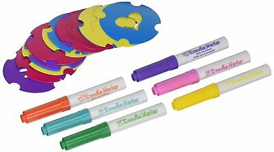 Doodle Bear Washable Cloth Fabric Markers Refill Airbrush 6-Pack w/ 15 Stencils