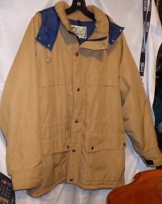 Penfield Mens Beige Hooded Mountain Parka Size: M Euc