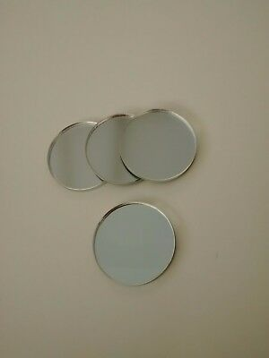 3mm thick MIRROR ACRYLIC PERSPEX DISC 35mm diameter PACK OF 24 art craft