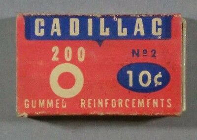 Vintage Cadillac Gummed Reinforcements SS Kresge Co Empty Box