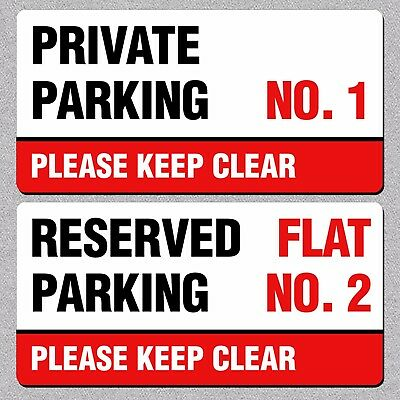 Personalised Private Reserved Parking Keep Clear METAL Sign/Plaque Two Sizes