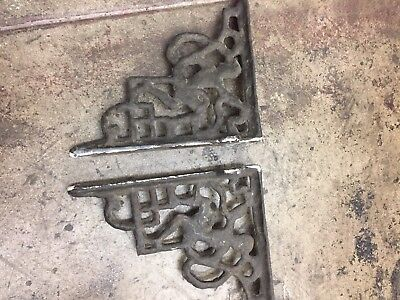 Shelf Brackets Old Iron Art Deco Dancing Man