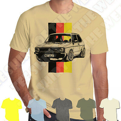 Golf Gti Mk1 100% Cotton T-shirt Personalised plate option +7colours of Tee