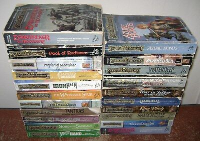Lot Paperback Books Sci Fi Fantasy Tsr Forgotten Realms Adventure Series Novel