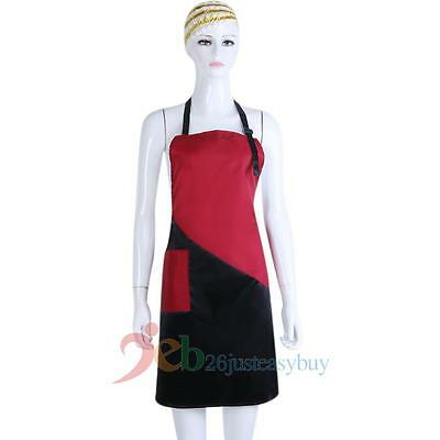 Black+ Red Salon Hairdressing Hair Cutting Apron Cape for Barber Hairstylist New