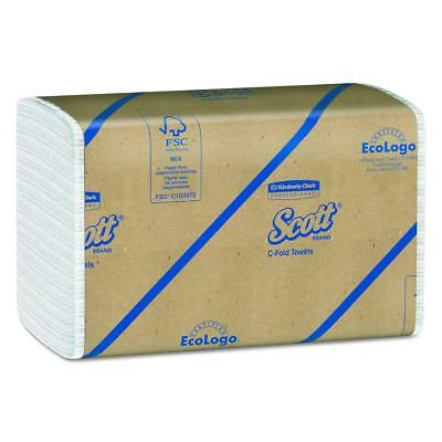 Scott C Fold Paper Towels (01510) with Fast-Drying Absorbency Pockets, 12...